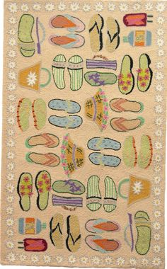 5e1c2ff6b All different colors and styles of beach flip-flops and beach