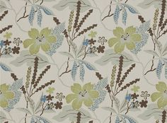 romo.com Avery Indian Teal wallpaper and fabric