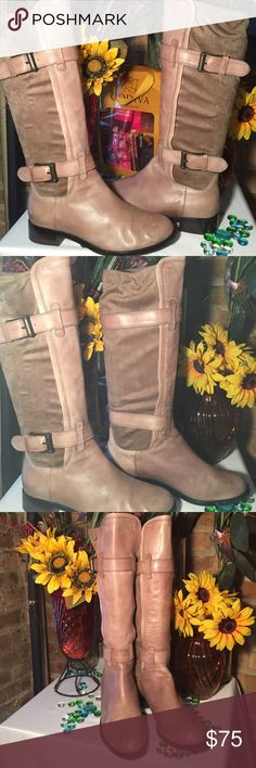 Cole Haan Boots Sz 10B- Fits true to Sz- Good condition- No damage- Genuine suede/leather. Very nice boots. Cole Haan Shoes Combat & Moto Boots