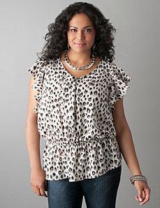 Animal print peplum tank by Lane Bryant