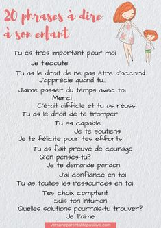 20 phrases à dire à son enfant-vers une parentalité positive Education Quotes, Kids Education, Physical Education, Special Education, Parenting Advice, Kids And Parenting, Burn Out, Positive Attitude, Positive Quotes
