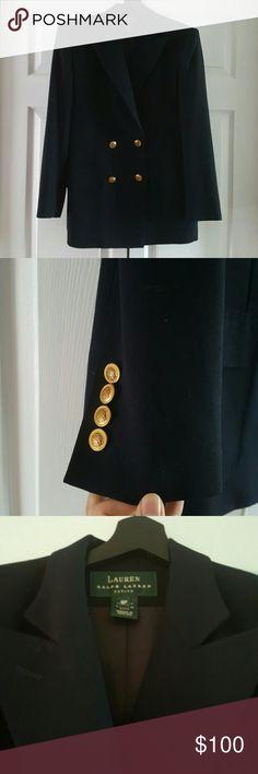Ralph Lauren black wool suit jacket Made in US Ralph Lauren black wool suit jacket   Made in US  US 6 Petite Ralph Lauren Jackets & Coats Blazers