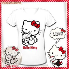 FOR SALE: Hello Kitty V-Neck Shirt ~ Size: XXL but fits like XL, Unbranded, got it from Amazon but doesn't fit so I'm selling it! *Note: I got the nice pic of the shirt from Amazon!  Please DM me if interested! 😍🛍🎁👚#hellokittyshirtforsale #hellokittyshirt #hellokittyforsale #sanrioforsale