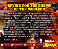 Major Sins in Islam Islamic Prayer, The Messenger, Prophet Muhammad, Know The Truth, Oppression, Quran, Muslim, Persecution, Holy Quran