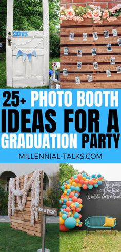 25 Photo Booth Ideas for a Graduation Party Picture Booth, Picture Backdrops, Diy Photo Backdrop, Diy Photo Booth, Photo Booths, Graduation Party Planning, Graduation Party Decor, Grad Parties, Graduation Ideas