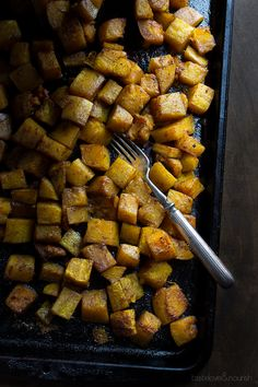 This Five-Spice Roasted Butternut Squash is amazing! The flavors of the five-spice are so perfect with the roasted butternut squash. | @tasteLUVnourish