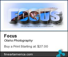 Focus word art for your business walls or to decorate your home.