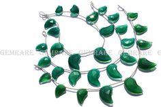 7 inches long of Green Onyx beads Mango Faceted Shape #greenonyx #greenonyxbeads #greenonyxbead #greenonyxmango #mangobeads #beadswholesaler #semipreciousstone #gemstonebeads #gemrare #beadwork #beadstore #bead