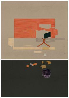 Imprimer l'art moderne, art géométrique, art abstrait, composition abstraite XXXIV