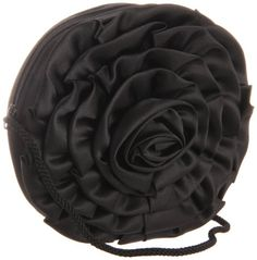 La Regale  Big Flower Zip Clutch