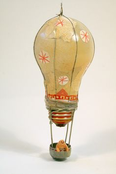 Hot Air Balloon Craft - A light bulb that didn't go to the landfill :-)  #reuse #recycle