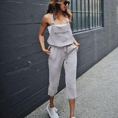EBUYTIDE Street Style Solid Color Sleeveless Jumpsuit – ebuytide Floral Print Maxi Dress, Jumpsuit Outfit, Street Style Summer, Bandeau Top, Chic Outfits, Everyday Fashion, Bodycon Dress, One Piece