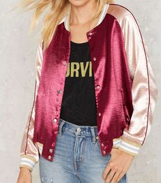 8 Celebrity Outfits That Prove Bombers Are Here to Stay via @WhoWhatWear