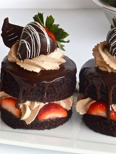 desserts We use this signature recipe for our sinfully delicious devils food cake layers, sheet cakes and cupcakes. Gourmet Desserts, Fancy Desserts, Just Desserts, Dessert Recipes, Fancy Chocolate Desserts, Cupcake Recipes, Gourmet Food Plating, Elegant Desserts, Valentines Day Desserts
