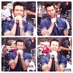 How many different faces can Adam Levine make