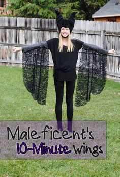 Easy Maleficent and Fairy Wings Tutorial Halloween Activities For Kids, Halloween Books, Halloween Night, Halloween Costumes For Kids, Malificent Costume, Maleficent Halloween Costume, Maleficent Wings, Easy Diy Costumes, Cinderella Costume