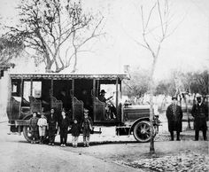 LISBOA. 1912 Um dos primeiros Carros Carris, a circular em Lisboa!