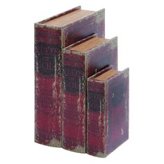 Woodland Imports 8-13H in. Rules Of Golf Theme Faux Book Box Set - 59377
