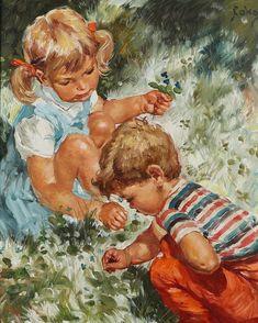 Paintings, Children, Fictional Characters, Art, Young Children, Art Background, Boys, Paint, Painting Art
