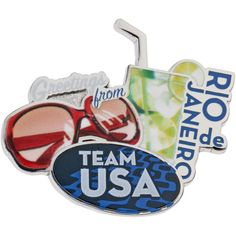 2016 Rio Olympics Team USA Drinks and Glasses Collectible Pin - $6.99