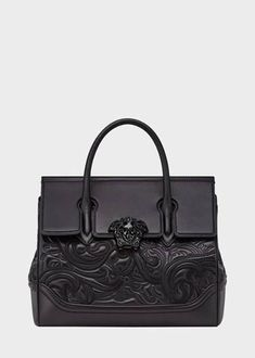 33ce14e1c641 PYTHON PALAZZO EMPIRE BAG from Versace Women s Collection. Dual-carry style  bag from the Palazzo Empire line crafted in luxurious