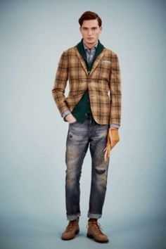 plaid jacket with layers