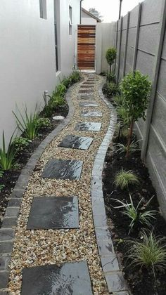 47 Backyard Landscaping Ideas and Design On A Budget Nizza 47 Hinterhof Landschaftsbau Ideen und Des Small Backyard Landscaping, Backyard Garden Design, Small Garden Design, Small Patio, Backyard Patio, Landscaping Rocks, Narrow Backyard Ideas, House Garden Design, Pergola Patio