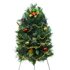 Solar Powered Christmas Tree Graves