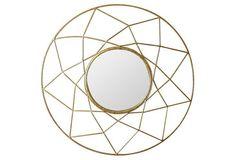 Holland Wall Mirror, Gold