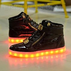 Men's Shoes Adults Led Usb Charging Glowing Sneakers Hook Loop Footwear Unisex Fashion Luminous Casual Shoes For Men Women Dancing Shoes Perfect In Workmanship Shoes