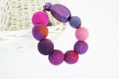 Púrpura collar collar rosa azul collar collar marrón regalo de Navidad