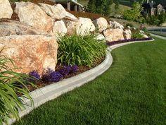 mowers edge - decorative landscape curbing. Custom Edge & Curb.