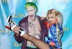 """Kelly Ripa and Jerry O'Connell dress up as The Joker and Harley Quinn from """"Suicide Squad"""" during """"L... - Callahan/ACE/INFphoto.com/StarTraks"""