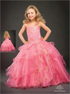 girls dress pictures   ... length ball gown, an extremely adorable little girl pageant dress