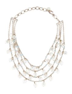 $316.00  Stephen Dweck Pearl and Topaz Necklace