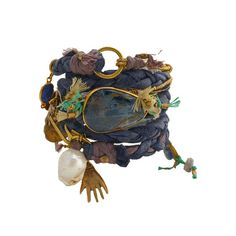 de petra leather wrap bracelet