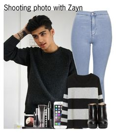 """Shooting photo with Zayn"" by diirectiioner69 ❤ liked on Polyvore featuring Mode, Topshop, BEA und LORAC"