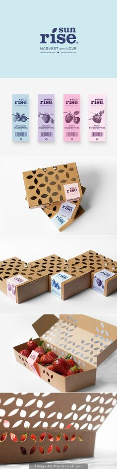 Sunrise packaging design  branding:  organic