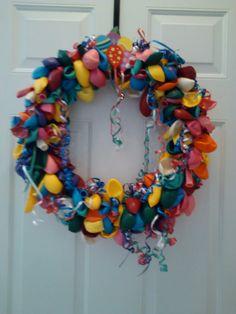 Birthday Decorative Wreath by beckysfavoritething on Etsy, $30.00