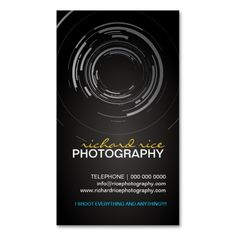 Modern Photographer Business Cards. This is a fully customizable business card and available on several paper types for your needs. You can upload your own image or use the image as is. Just click this template to get started!