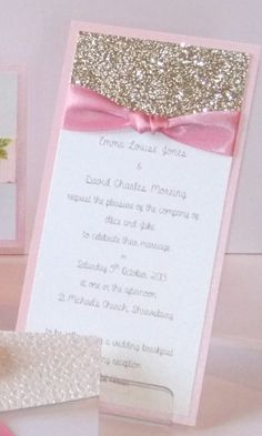 Beautiful Wedding Invitations by Lilylou & You - Single Sided Wedding Invites