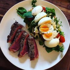 Peppered fillet steak with truffle pesto salad and soft boiled eggs. #bohansfood :@bohans_food  Post your best food pics with #MeCookMeEat and I will repost with a shoutout!!!!  TAG YOUR FRIENDS #foodie #nomnom #foodporn #foodstagram #happytummy #foodpic  #getinmybelly #foodgasm #goodeats #ilovefood #foodcoma #partyinmymouth #shokunin_eats #EatFamous #TrueCooks #StarvingFoodSeeker #ChefsOfInstagram #betcheswhoeat #thenaughtyfork #EatNowPlayLater #foodiefriends_ #bestfoodworld # # # # # by…