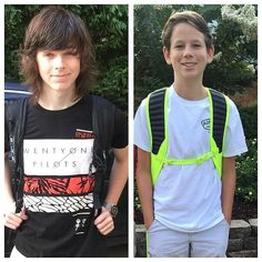 Chandler Riggs and Grayson Riggs