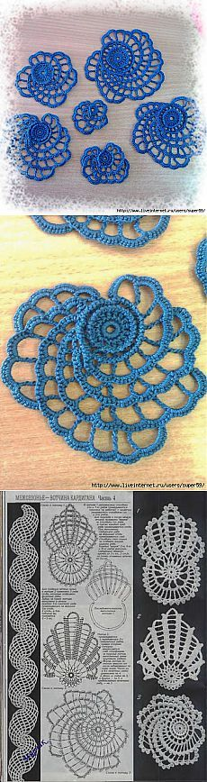 Watch The Video Splendid Crochet a Puff Flower Ideas. Phenomenal Crochet a Puff Flower Ideas. Irish Crochet Patterns, Crochet Motifs, Crochet Diagram, Freeform Crochet, Crochet Art, Thread Crochet, Crochet Designs, Crochet Crafts, Crochet Flowers