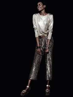 Maria Borges For Harper's Bazaar Brazil May 2014 Issue