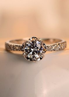 This is the exact ring I want in white gold. Everyone tell my future husband.