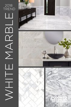 White marble continues to be a popular choice for homes because it fits perfectly with any style. You'd be surprised how affordable our white marble styles are! Find more inspiration in the link.