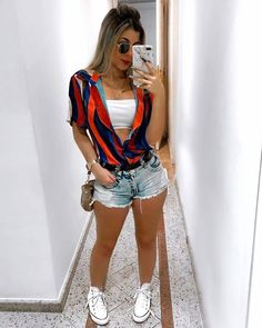 Pin by Vanessacramirez on Ropa de moda mujer in 2020 30 Outfits, Cute Summer Outfits, Casual Outfits, Girl Outfits, Cute Outfits, Fashion Outfits, Fashion Clothes, Fashion Mode, Fashion Week