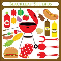 Barbecue BBQ Barbeque  outdoor griller veggies by blackleafdesign,