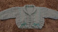 casaquinho de crochê lã para bebe